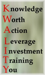 KWALITY Knowledge is Worth Action to Leverage the Investment of Training You